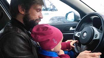 Med baby i bilen på vei til Italia
