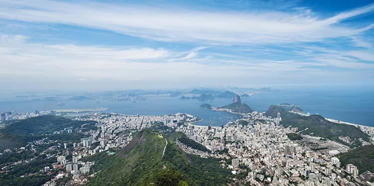 Utsikt ove Rio de Janeiro fra Corcovado