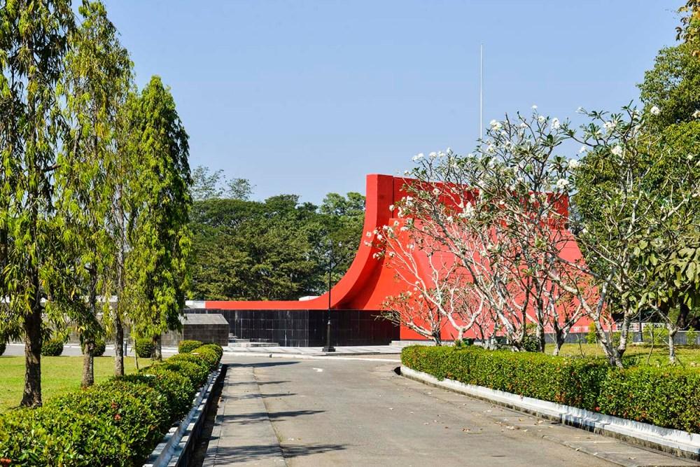 Martyrenes mausoleum i Myanmar