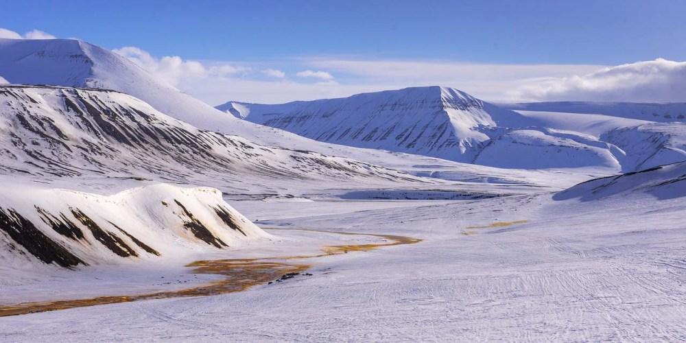 Snø på Svalbard