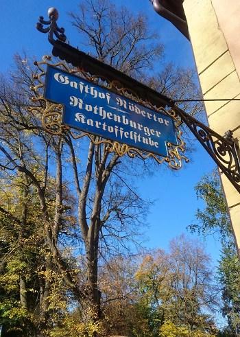 Hotellskilt i Tyskland