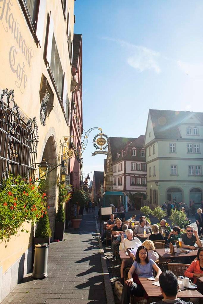 Uteserveringer i Rothenburg