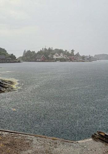Regnbyge på Sørlandet