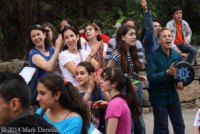 Students dancing in Byblos, Lebanon
