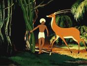 Мальчик прячет антилопу