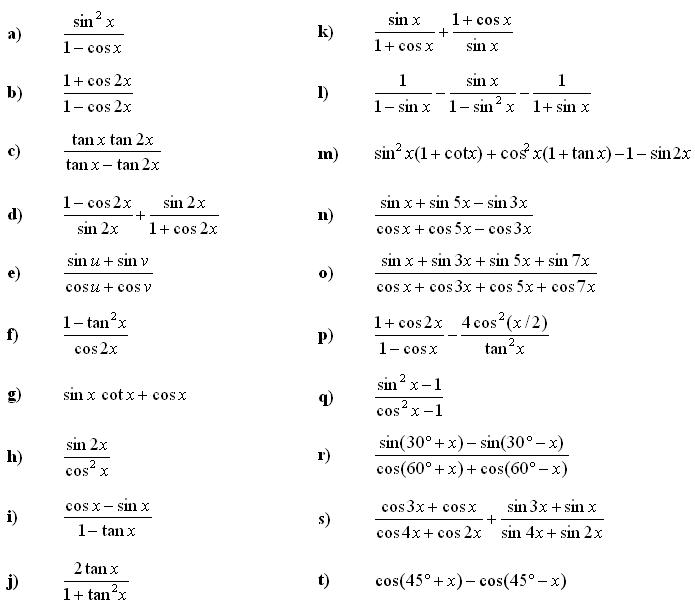 funksionet trigonometrike - ushtrimi 3