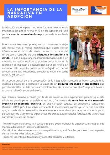 5. Importancia de la narrativa en adopción.