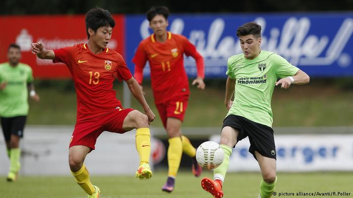 المنتخب الصيني الأولمبي يلعب في دوري الدرجة الرابعة في ألمانيا !