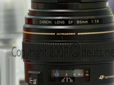 My 85mm lens