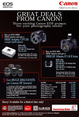 Canon Sale