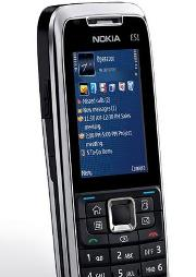 The Nokia E51 with the Symbian S60 Operating System