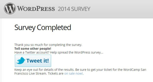 WordPress 2014 Survey