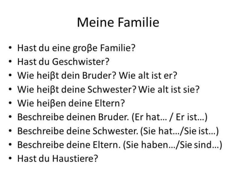 fwef3 - Meine Familie (Antworten Sie)