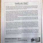 Familie oder  Single?  tema za usmeni 2  i 3  dio