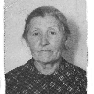 Frida Kiess, Frau von Wilhelm Rolloff