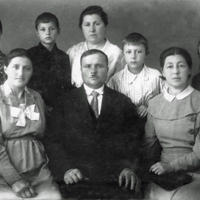 Edmund Rolloff und Familie
