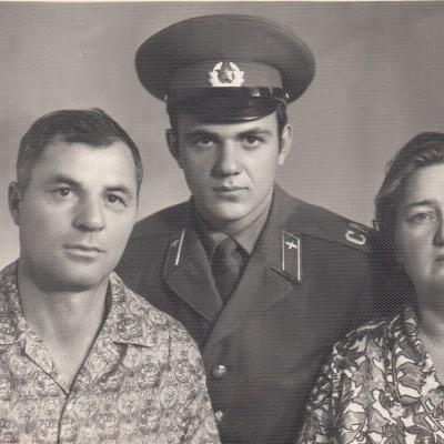 Siegfried Rolloff und Frau Emma mit Sohn