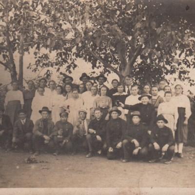 Gruppenfoto mit Ernst Plieninger und Alwina Schall