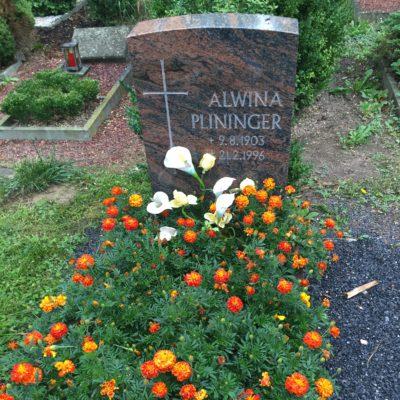 Alwina Schall, verheiratete Plininger