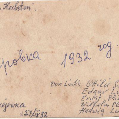 1932 Weinlese, Foto Rückseite