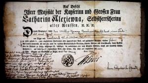 Reisepass Müller George Burchardt 1790