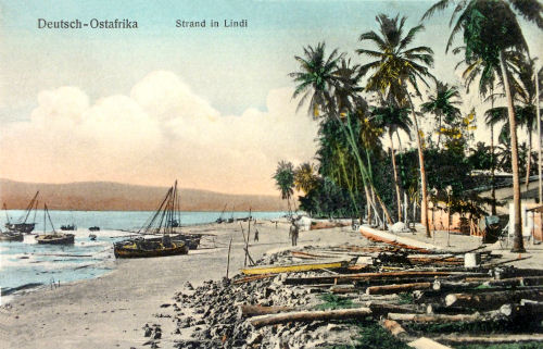 Deutsch-Ostafrika_Strand in Lindi