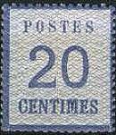 20 Centimes Norddeutscher Postbezirk mit Währung Franc