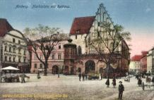 Amberg, Marktplatz mit Rathaus