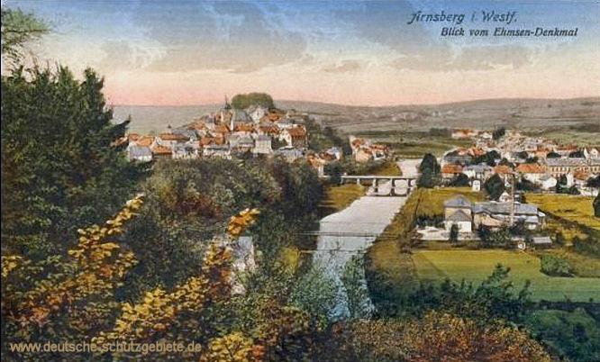 Arnsberg, Blick vom Ehmsen-Denkmal