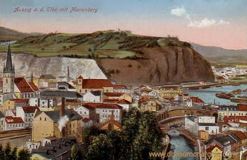 Aussig a. d. Elbe mit Marienberg