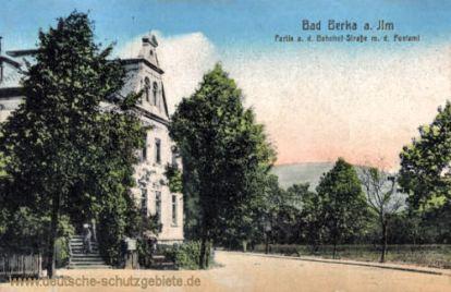 Bad Berka, Bahnhofstraße mit Postamt