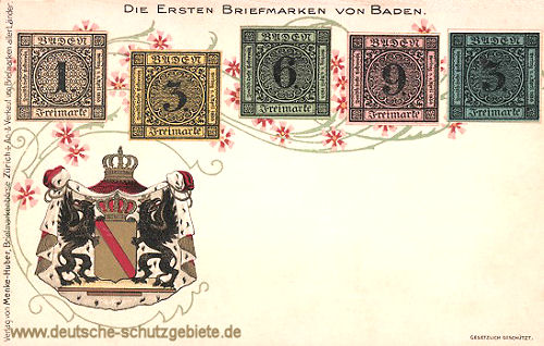 Die ersten Briefmarken von Baden - 1851/52