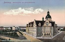 Bamberg, Wilhelmplatz mit Oberpostdirektion
