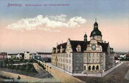 Bamberg, Wilhelmplatz mit Oberpostdirektion