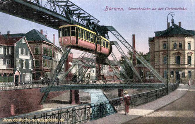 Barmen, Schwebebahn an der Cleferbrücke