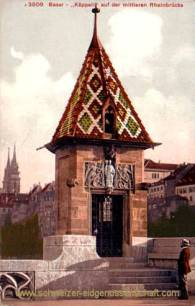 Basel - Käppeli auf der mittleren Rheinbrücke
