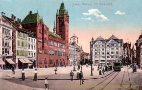 Basel, Rathaus mit Marktplatz