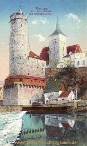 Bautzen, Alte Wasserkunst und Michaeliskirche