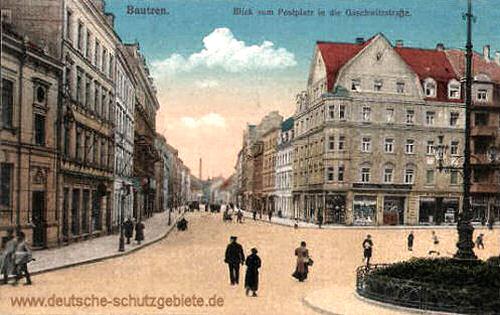 Bautzen, Blick vom Postplatz in die Gaschwitzerstraße
