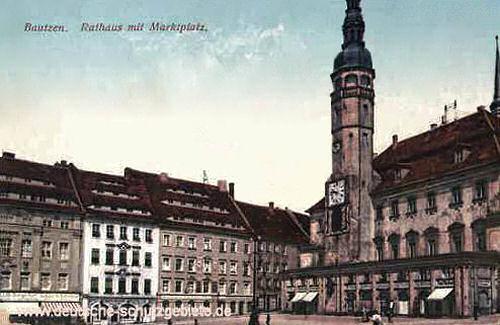 Bautzen, Rathaus mit Marktplatz