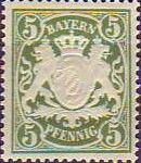 Königreich Bayern 1876, 5 Pfennig