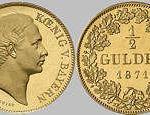 Ludwig II. König von Bayern - 1/2 Gulden, 1871