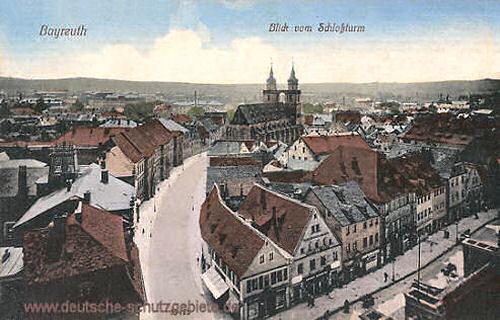 Bayreuth, Blick vom Schlossturm