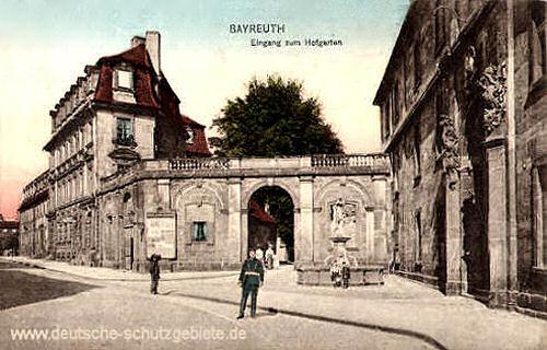 Bayreuth, Eingang zum Hofgarten
