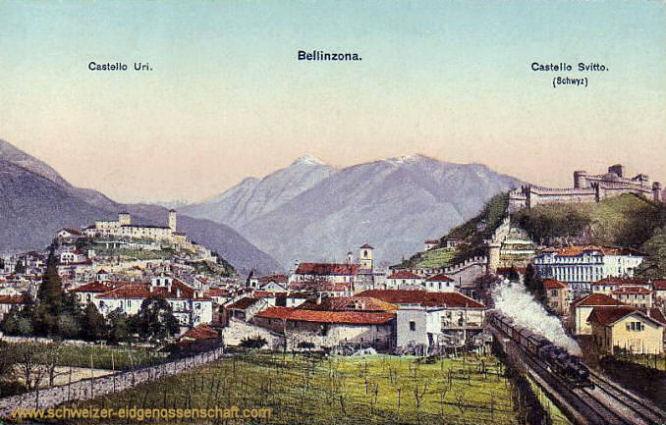Bellinzona - Castello Uri - Castello Svitto (Schwyz)