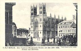 Berlin, Friedrich-Werdersche Kirche um das Jahr 1835