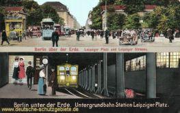 Berlin - Untergrundbahn Station Leipziger Platz