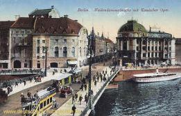 Berlin, Weidendammerbrücke mit Komischer Oper