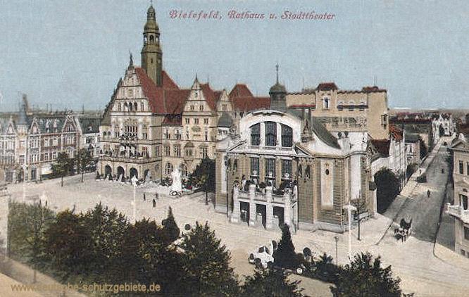 Bielefeld, Rathaus und Stadttheater