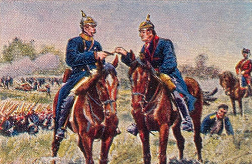 Bismarck und Moltke bei Königgrätz am 3. Juli 1866